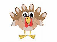 turkey cartoon     Stock Photo - Royalty-Freenull, Code: 400-06326154
