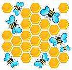 Bee theme image 1 - vector illustration. Stock Photo - Royalty-Free, Artist: clairev                       , Code: 400-06326499
