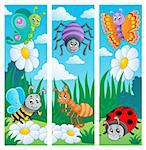 Bugs banners collection 2 - vector illustration. Stock Photo - Royalty-Free, Artist: clairev                       , Code: 400-06326503