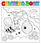 Coloring book bugs theme image 4 - vector illustration. Stock Photo - Royalty-Free, Artist: clairev                       , Code: 400-06326512