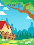 Spring theme landscape 3 - vector illustration.