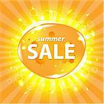 Orange Summer Sale Poster With Bokeh, Vector Illustration Stock Photo - Royalty-Free, Artist: barbaliss                     , Code: 400-06326716