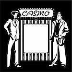 Tough mafia guys at the blank casino signpost Stock Photo - Royalty-Free, Artist: sahua                         , Code: 400-06326760