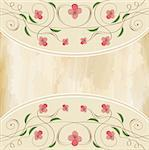 vector floral background Stock Photo - Royalty-Free, Artist: balasoiu                      , Code: 400-06326995