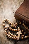 the wooden rosary and the Bible Stock Photo - Royalty-Free, Artist: jirkaejc                      , Code: 400-06327106