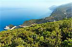 Beautiful summer Porto Katsiki beach coast on Ionian Sea (Lefkada, Greece) view from up Stock Photo - Royalty-Free, Artist: Yuriy                         , Code: 400-06327134