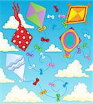 Kites theme image 2 - vector illustration. Stock Photo - Royalty-Free, Artist: clairev                       , Code: 400-06327777
