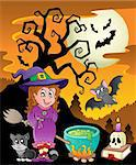 Scene with Halloween theme 8 - vector illustration. Stock Photo - Royalty-Free, Artist: clairev                       , Code: 400-06327786