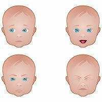Collection of baby facial expressions Stock Photo - Royalty-Freenull, Code: 400-06328064