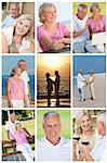 Happy retirement senior man and woman couple active romantic vacation together in summer sunshine Stock Photo - Royalty-Free, Artist: darrenbaker                   , Code: 400-06328491