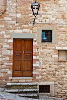 Wooden Ancient Italian Door in Historic Center Stock Photo - Royalty-Freenull, Code: 400-06329649