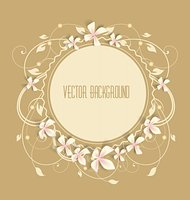 Vintage floral background. Beautiful frame with flowers. Stock Photo - Royalty-Freenull, Code: 400-06329749