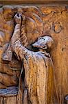 Old wooden religious handmade statue Stock Photo - Royalty-Free, Artist: myper                         , Code: 400-06330849