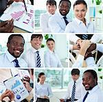 Collage of successful business team Stock Photo - Royalty-Free, Artist: pressmaster                   , Code: 400-06331005