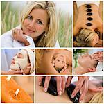 Montage of young beautiful women relaxing at a health spa having beauty treatments Stock Photo - Royalty-Free, Artist: darrenbaker                   , Code: 400-06333003