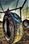 Dramatic tire kids game post atomic atmosphere Stock Photo - Royalty-Free, Artist: myper                         , Code: 400-06334188