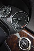 Close-up of Car Dashboard with Start Button Stock Photo - Premium Royalty-Freenull, Code: 600-06334453
