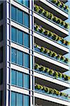 New Condominiums with Hanging Flower Baskets on Balconies Stock Photo - Premium Rights-Managed, Artist: Andrew Kolb, Code: 700-06334553