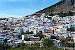 Overview of City, Chefchaouen, Chefchaouen Province, Tangier-Tetouan Region, Morocco Stock Photo - Premium Rights-Managed, Artist: Nico Tondini, Code: 700-06334569