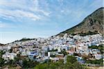 Overview of City, Chefchaouen, Chefchaouen Province, Tangier-Tetouan Region, Morocco Stock Photo - Premium Rights-Managed, Artist: Nico Tondini, Code: 700-06334570