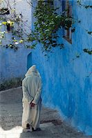 Person Walking, Chefchaouen, Chefchaouen Province, Tangier-Tetouan Region, Morocco Stock Photo - Premium Rights-Managednull, Code: 700-06334586