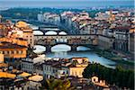 Ponte Vecchio over Arno River, Florence, Tuscany, Italy Stock Photo - Premium Rights-Managed, Artist: R. Ian Lloyd, Code: 700-06334631