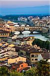 Ponte Vecchio over Arno River, Florence, Tuscany, Italy Stock Photo - Premium Rights-Managed, Artist: R. Ian Lloyd, Code: 700-06334632
