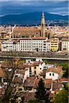 Basilica di Santa Croce and City, Florence, Tuscany, Italy Stock Photo - Premium Rights-Managed, Artist: R. Ian Lloyd, Code: 700-06334642