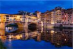 Ponte Vecchio over Arno River, Florence, Tuscany, Italy Stock Photo - Premium Rights-Managed, Artist: R. Ian Lloyd, Code: 700-06334667
