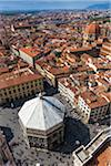Aerial view of Baptistry of Basilica di Santa Maria del Fiore, Florence, Tuscany, Italy Stock Photo - Premium Rights-Managed, Artist: R. Ian Lloyd, Code: 700-06334687