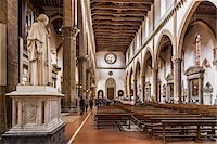 Interior of Basilica of Santa Croce, Piazze Santa Croce, Florence, Tuscany, Italy Stock Photo - Premium Rights-Managednull, Code: 700-06334697