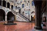 Inner Courtyard of Bargello Museum, Florence, Tuscany, Italy