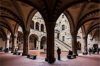 Inner Courtyard of Bargello Museum, Florence, Tuscany, Italy Stock Photo - Premium Rights-Managednull, Code: 700-06334702