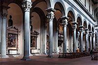Interior of Santo Spirito Basilica, Florence, Tuscany, Italy Stock Photo - Premium Rights-Managednull, Code: 700-06334723