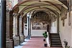 Cloister of Chiesa di Ognissanti, Florence, Tuscany, Italy