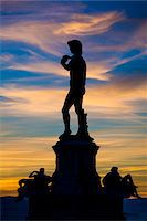 statue of david - Statue of David by Michelangelo, Piazzale Michelangelo, Florence, Tuscany, Italy Stock Photo - Premium Rights-Managednull, Code: 700-06334789