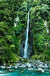 Waterfall in Rain Forest Stock Photo - Premium Royalty-Free, Artist: Science Faction, Code: 6106-06335391
