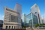Canary Wharf reflected in pool Stock Photo - Premium Royalty-Free, Artist: Steve McDonough, Code: 6106-06335655