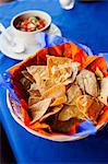 Tortilla chips and salsa Stock Photo - Premium Royalty-Free, Artist: Cultura RM, Code: 614-06336194