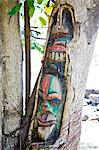 Tree trunk with tribal carvings Stock Photo - Premium Royalty-Free, Artist: Beyond Fotomedia, Code: 6102-06336492