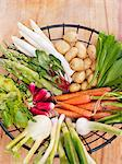 Fresh vegetables in basket Stock Photo - Premium Royalty-Free, Artist: CulturaRM, Code: 6102-06336762