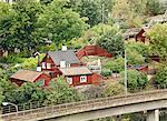 Small houses in Stockholm Stock Photo - Premium Royalty-Free, Artist: Blend Images, Code: 6102-06336825