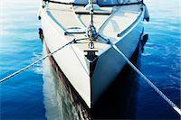 sailboat  ocean - Moored boat Stock Photo - Premium Royalty-Freenull, Code: 6102-06336963