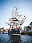 Sailing ship in harbor Stock Photo - Premium Royalty-Free, Artist: Aurora Photos, Code: 6102-06337080