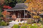Main hall, Jakkou-in temple in autumn, Ohara, Kyoto, Japan Stock Photo - Premium Rights-Managed, Artist: Oriental Touch, Code: 855-06338291