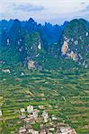 Pinnacles and farmland viewed from Xinping village, Guilin, Guangxi, China Stock Photo - Premium Rights-Managed, Artist: Oriental Touch, Code: 855-06338629