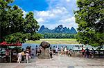Pier, Yangshuo, Guilin, China Stock Photo - Premium Rights-Managed, Artist: Oriental Touch, Code: 855-06338658