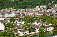 Townscape from Xilang Hill, Yangshuo, Guilin, China Stock Photo - Premium Rights-Managednull, Code: 855-06338673