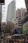 Busy streets at Tsimshatsui, Kowloon, Hong Kong