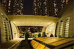 Podium of Kowloon Station at night, Kowloon west, Hong Kong Stock Photo - Premium Rights-Managed, Artist: Oriental Touch, Code: 855-06339138